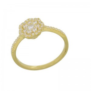 Luvente Yellow Gold Ring