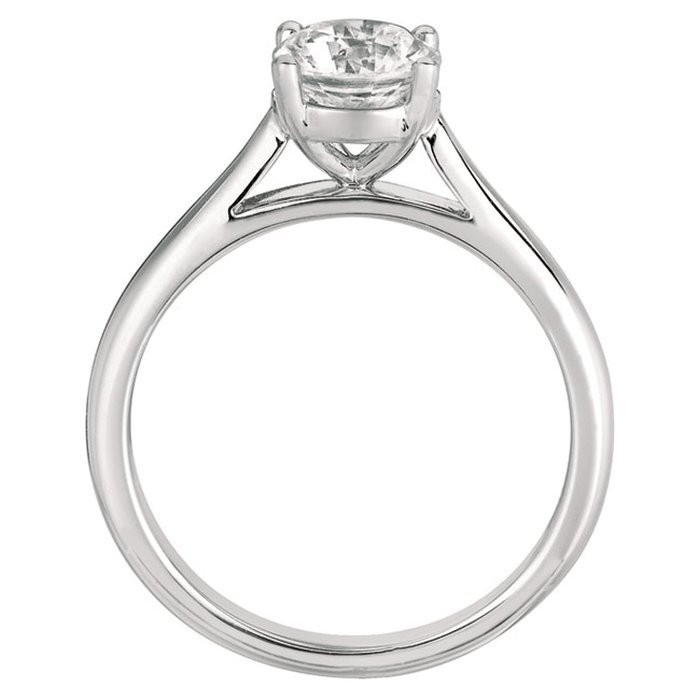 FlyerFit Solitaire 14K White Gold Engagement Ring