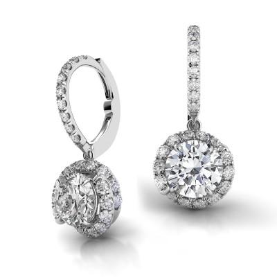 Swirl Diamond Drop Earrings