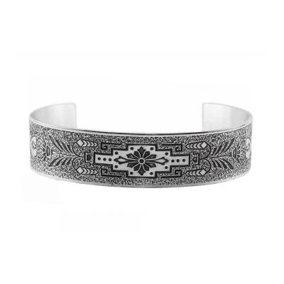 Estate | Engraved Bracelet | Die Struck | Gold Silver | Floral
