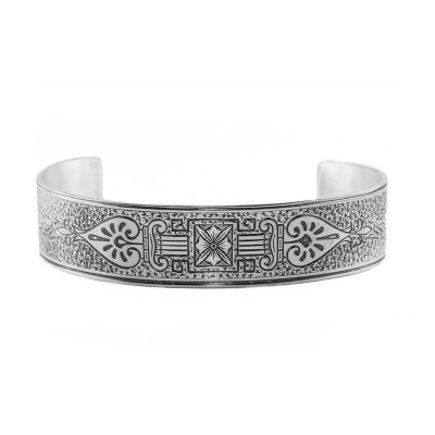 Vintage | Engraved Bracelet | Die Struck | Silver | Geometric Design