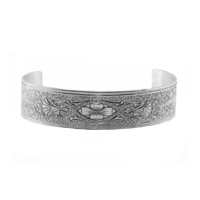 Antique | Engraved Bracelet | Die Struck | Gold Silver | Floral