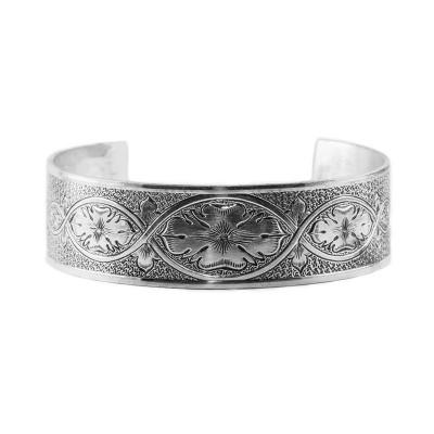 Estate | Die Struck | Bracelet | Gold Silver Platinum | Floral | Vines