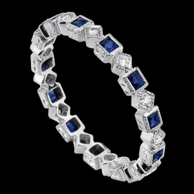 R146-D,S  SQUARE ETERNITY BAND